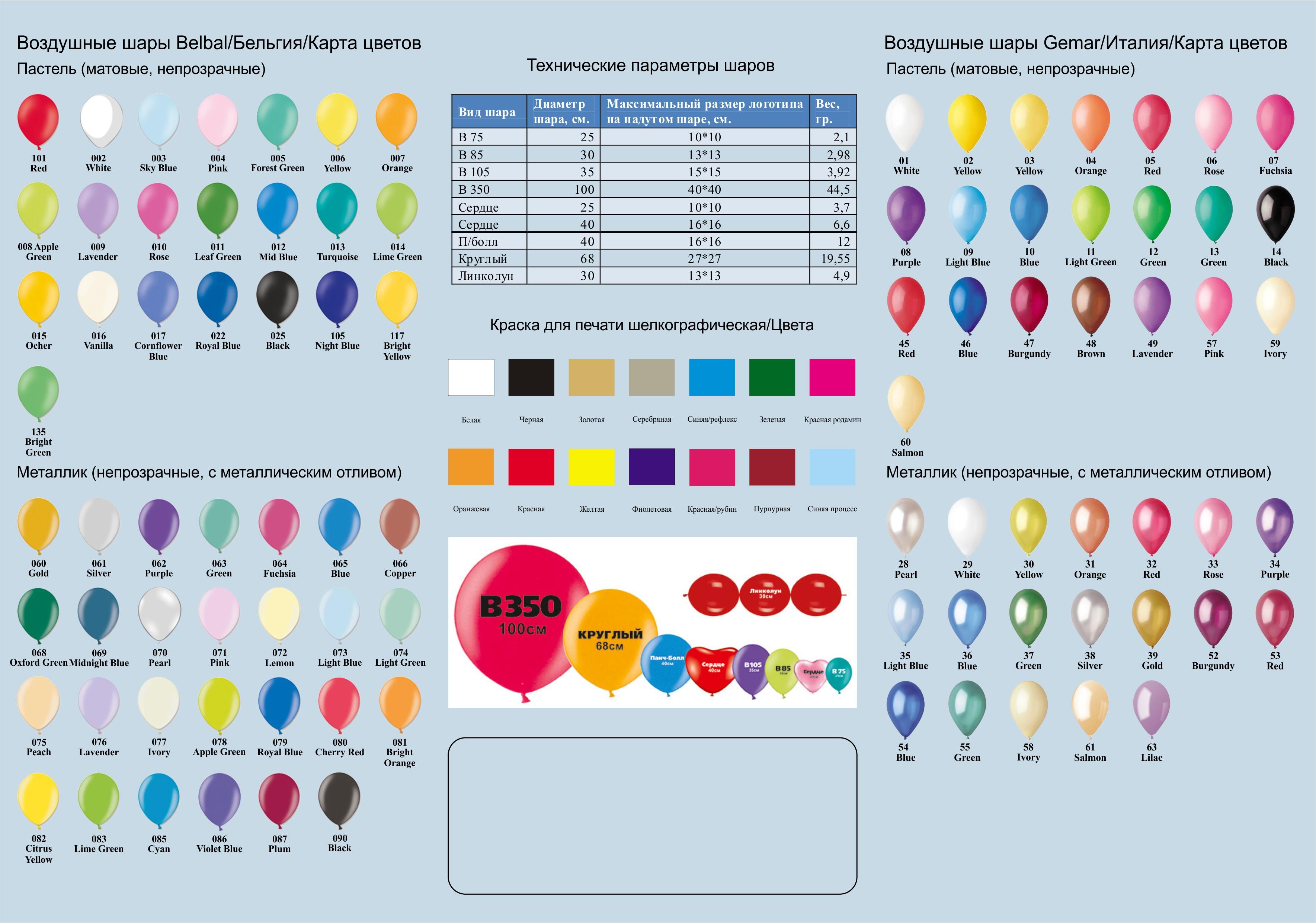 цветовая гамма шаров