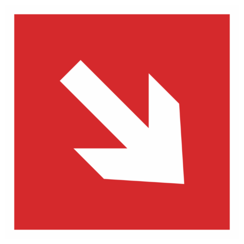 Знак F-01-02 «Направляющая стрелка по углом 45»