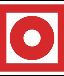 Знак F-10 «Кнопка включения установок пожарной автоматики»